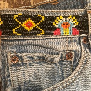 Vintage 'Levi's' Beaded Jeans 32/8